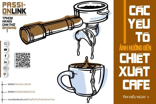 CÁC YẾU TỐ ẢNH HƯỞNG ĐẾN CHIẾT XUẤT CAFE