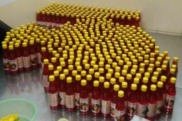 Nửa tấn hóa chất không rõ nguồn gốc dùng sản xuất siro