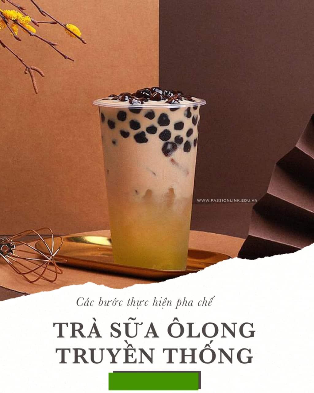 cách làm trà sữa ôlong
