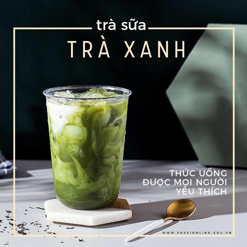 cách pha trà sữa trà xanh