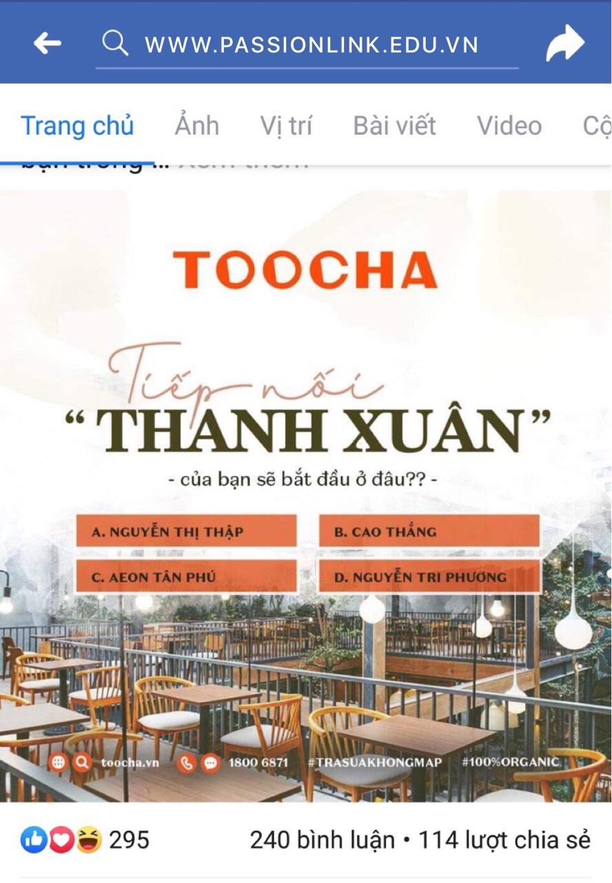 Toocha nhượng lại các điểm bán trước khi Ten Ren rút khỏi Việt Nam.
