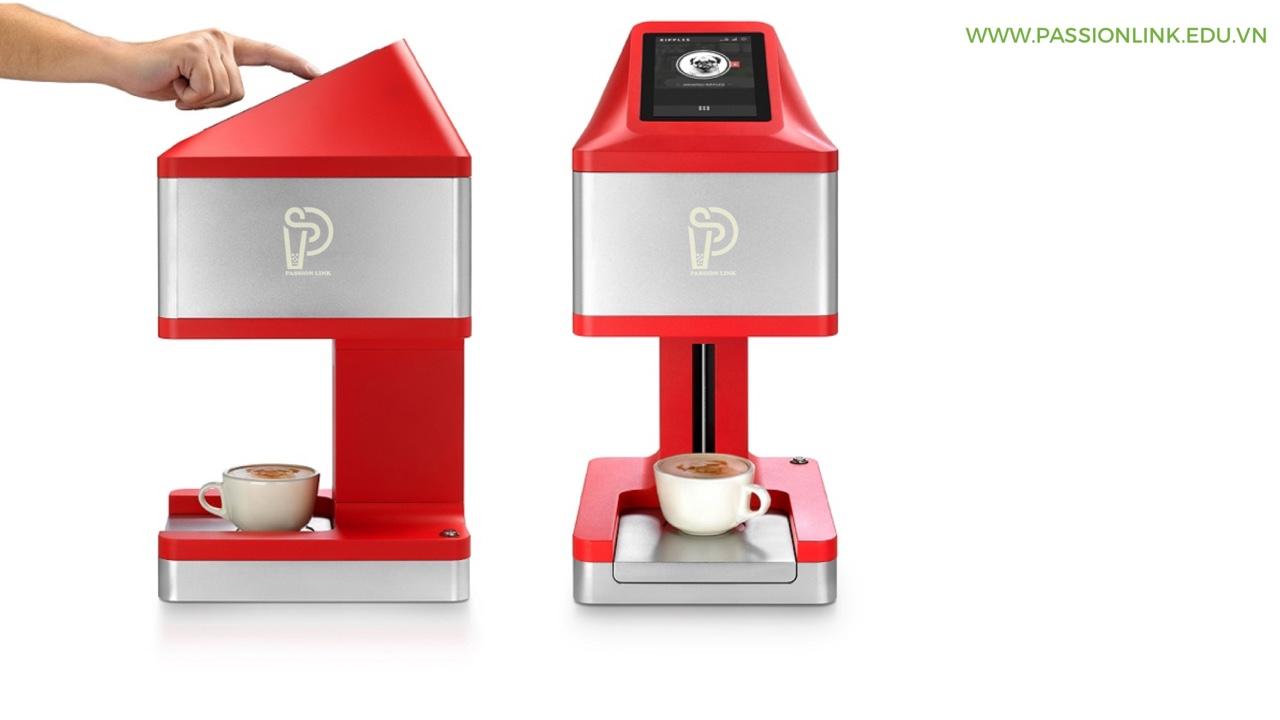 Mua máy in hình lên ly trà sữa cà phê